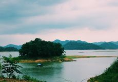 Nui Coc Lake, Vietnam. Nui Coc Lake in ThaiNguyen Province, North of Vietnam royalty free stock photo