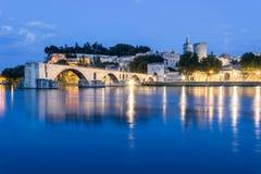 Nuit à Avignon, France Images libres de droits