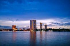 Nuit à Bangkok Image stock