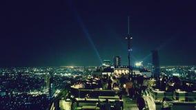 Nuit à Bangkok, Thaïlande Photos libres de droits