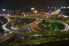 Nuit à Changhaï Photographie stock libre de droits