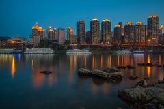 Nuit à Chongqing Photographie stock