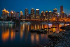 Nuit à Chongqing Photo stock