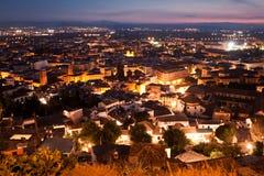 Nuit à Grenade, Espagne Images libres de droits
