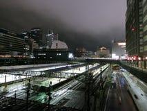 Nuit à la gare de Shinjuku Images libres de droits