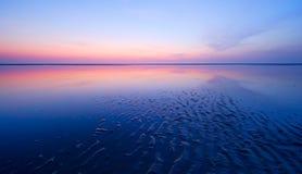 Nuit à la plage photographie stock