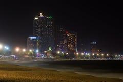 Nuit à la plage de Nha Trang vietnam Photos stock