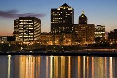 Nuit à Milwaukee Photographie stock