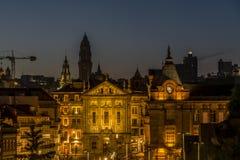 Nuit à Porto Photos stock
