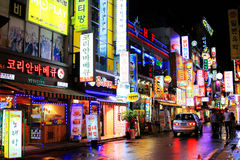 Nuit à Séoul Photographie stock libre de droits