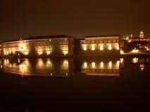 Nuit à Toulouse Images libres de droits