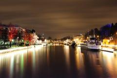 Nuit à Turku Images stock