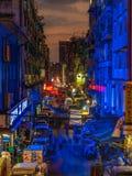 Nuit à Yangon, Myanmar Photos stock