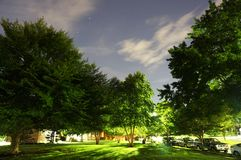 Nuit étoilée dans le voisinage Photographie stock