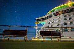 Nuit étoilée de bateau de croisière Photos libres de droits