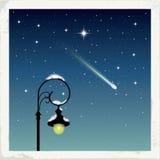 Nuit étoilée de l'hiver Image stock