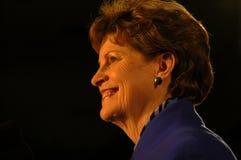 Nuit 2008 d'élection de Jeanne Shaheen Images libres de droits