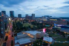 Nuit aérienne à Atlanta la Géorgie Etats-Unis images stock