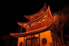 Nuit antique de voyage d'histoire d'architecture de la Chine images libres de droits