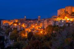 Nuit au-dessus d'Autumn Sorano Photo stock
