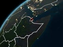 Nuit au-dessus de Djibouti Image stock