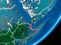 Nuit au-dessus de Djibouti illustration de vecteur