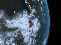 Nuit au-dessus de Djibouti sur terre illustration stock