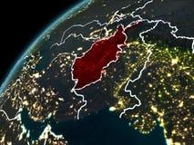 Nuit au-dessus de l'Afghanistan Illustration Stock