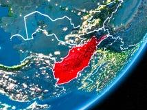Nuit au-dessus de l'Afghanistan Photographie stock libre de droits
