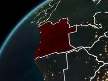 Nuit au-dessus de l'Angola illustration libre de droits