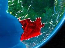 Nuit au-dessus de l'Angola Photos stock