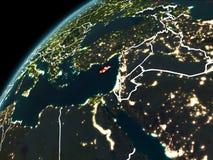 Nuit au-dessus de la Chypre Image stock