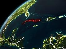 Nuit au-dessus du Cuba illustration libre de droits