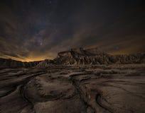 Nuit au-dessus du désert Photographie stock libre de droits
