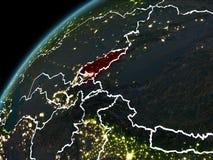 Nuit au-dessus du Kirghizistan Images stock