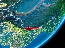 Nuit au-dessus du Népal Images libres de droits