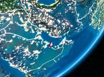 Nuit au-dessus du Qatar Image stock