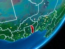Nuit au-dessus du Togo Image stock