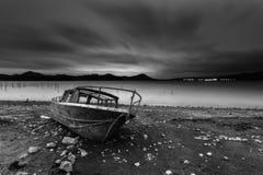 Nuit au lac Images libres de droits