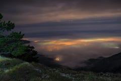 Nuit au plateau Images stock