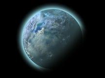 Nuit avec la lune sur un ciel foncé Illustration de Vecteur