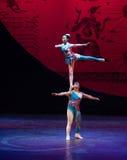 Nuit Ballet-acrobatique humaine de rêve de showBaixi Image stock