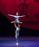 Nuit Ballet-acrobatique humaine de rêve de showBaixi Photos stock