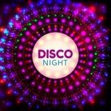 Nuit banner2 de disco Image stock