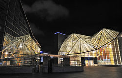nuit beautful de construction Photos libres de droits
