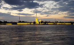 Nuit blanche à Pétersbourg Images stock