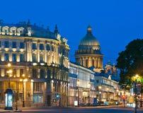 Nuit blanche à St Petersburg Images libres de droits