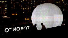Nuit Blanche в Торонто, Канаде Стоковые Фото