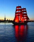Nuit blanche de St Petersburg, la Russie Image libre de droits