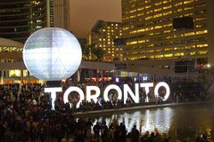 Nuit Blanche i Toronto, Kanada Arkivfoto